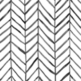 HaokHome 96020-1 Modern Stripe Peel and Stick Wallpaper Herringbone Black White Vinyl Self Adhesive Decorative 17.7in x…