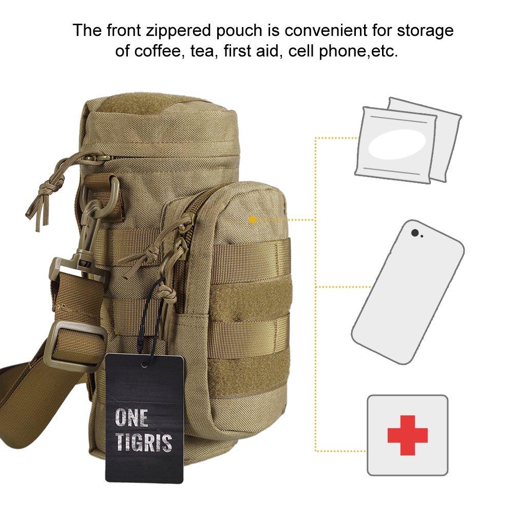 Outdoor OneTigris MOLLE borraccia supporto bottiglie con chiusura lampo sacchetto Carrier