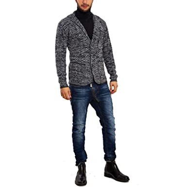 Damentwinset austop Cardigan Bianco Con LEOPRINT SUPER a jeans bianchi di IMAGINI
