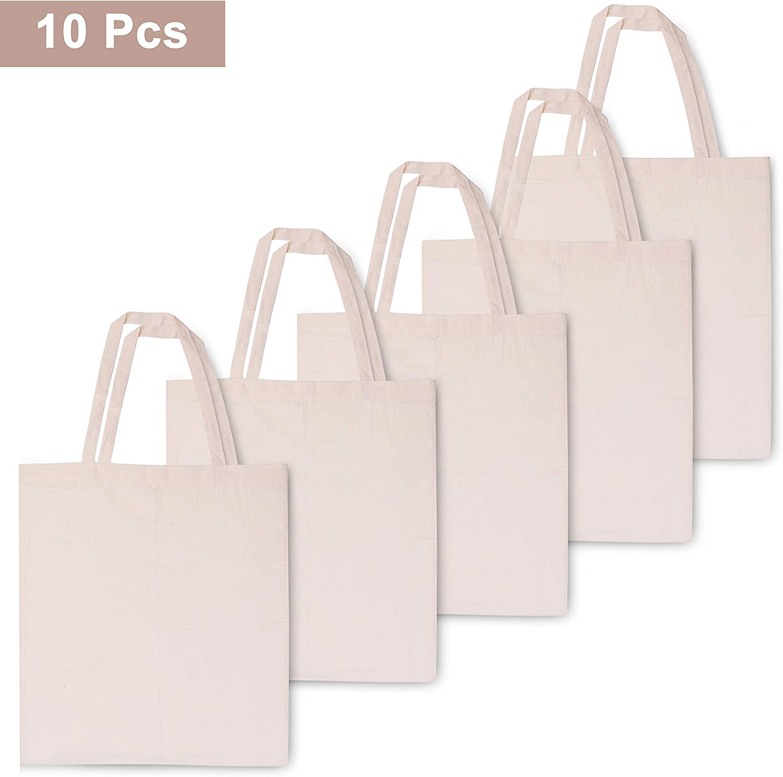Bolsas de Algodón (Pack de 10) - Bolsas Ecológicas para la Compra ...