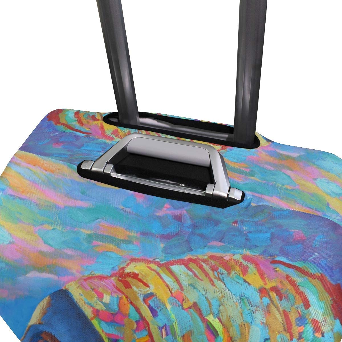 3D Watercolor African Women Print Luggage Protector Travel Luggage Cover Trolley Case Protective Cover Fits 18-32 Inch