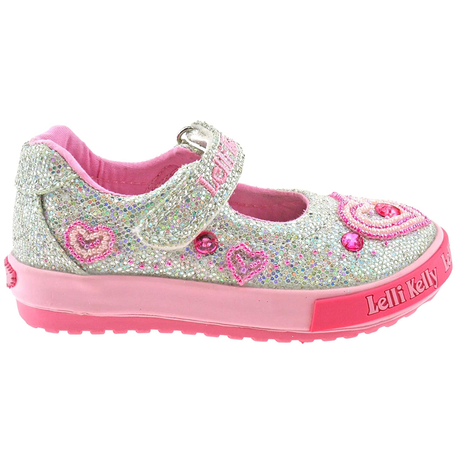 50625fabd Lelli Kelly LK3010 (GH01) Silver Glitter Ava Baby Dolly Shoes -21 (UK 5):  Amazon.co.uk: Shoes & Bags