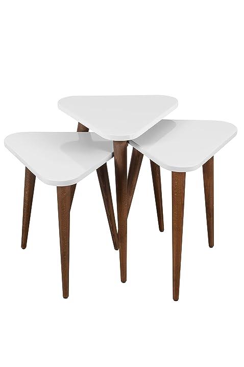 Merveilleux Decorotika   Brooklyn 3 Piece Triangle Nesting Table Set