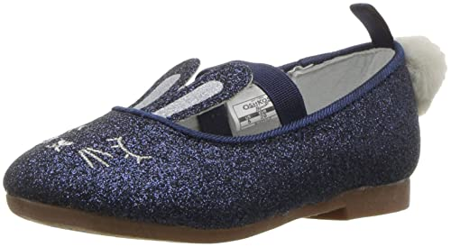 8ed5ddb20f2b5 Amazon.com | Oshkosh B'Gosh Girls' Buffy Ballet Flat, Navy, 8 M US ...