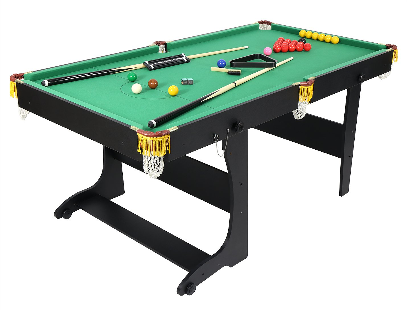 FT In Fold Up Snooker TablePool Table Game Table With Balls - Pool table description