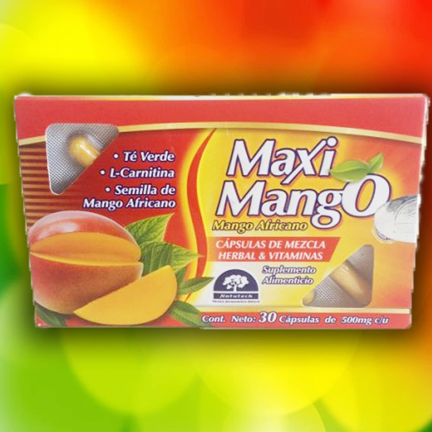 Amazon.com: Maxi Mango Africano (African Mango) Weight Management Dietary Supplements 500mg with 30 Capsules: Health & Personal Care