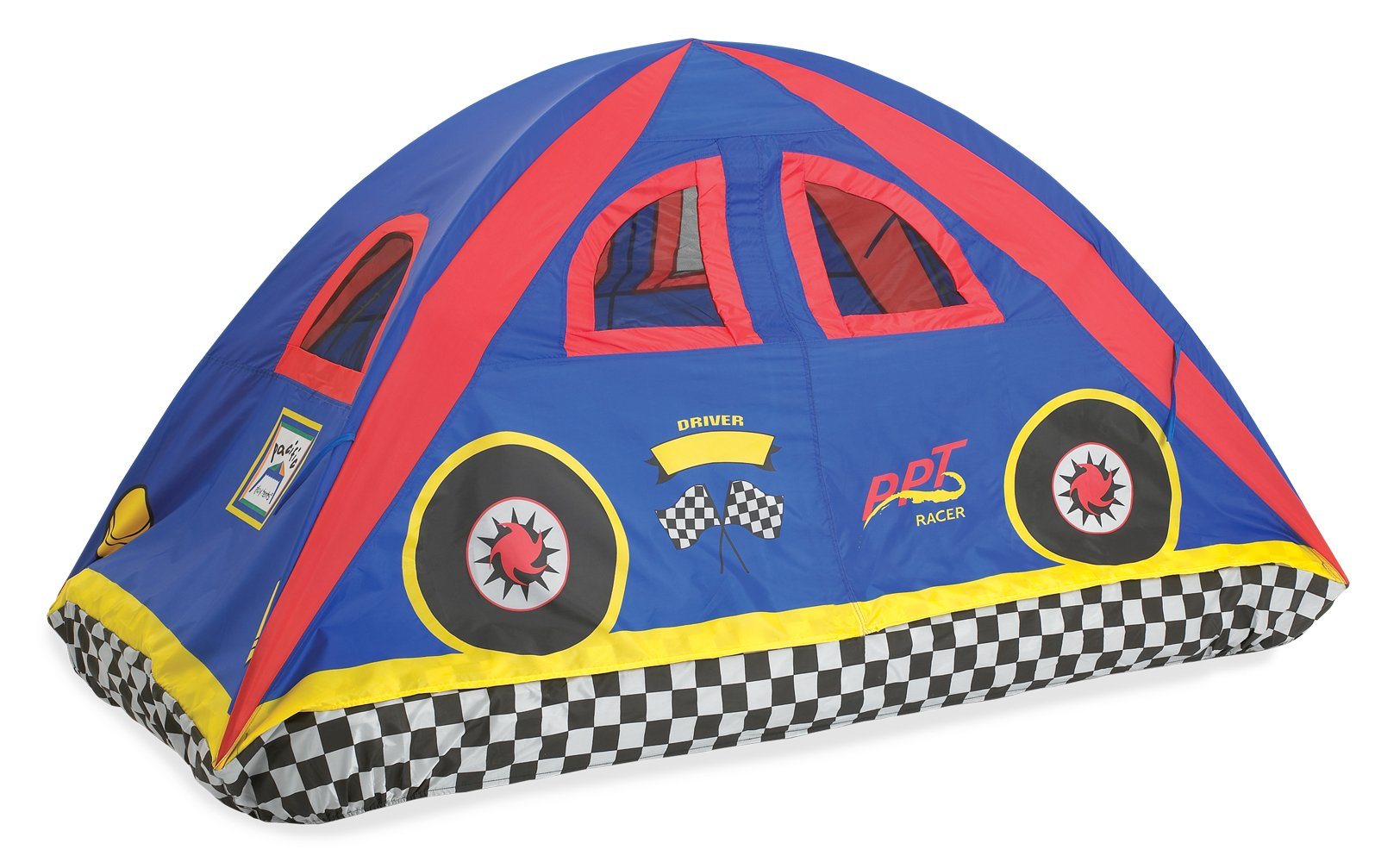 Pacific Play Tents 19710 Kids Rad Racer Bed Tent Playhouse - Twin Size by Pacific Play Tents