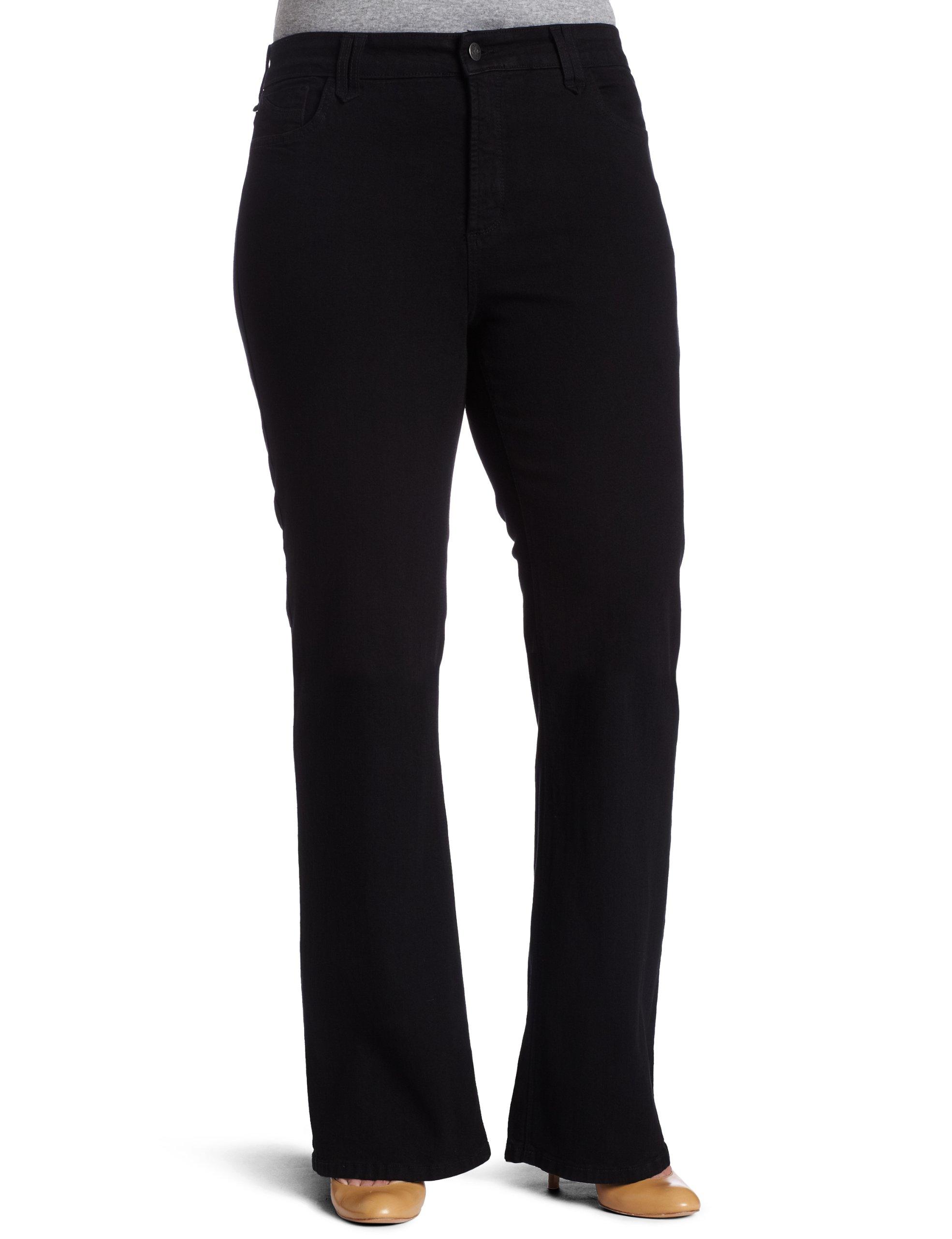 NYDJ Petite Plus-size Hayden Bootcut Jeans, Black, 28WP