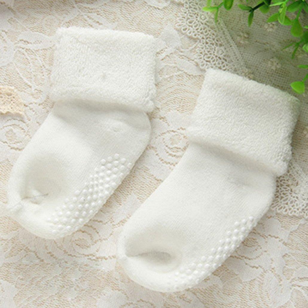 1-3 Jahre Baumwolle Babysocken Dick Warm Babys/öckchen Herbst Winter Kindersocken Gepunkte Kinder Socken Set 6 Paar Verschidene Farben FEOYA