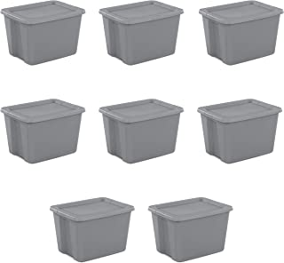 product image for Sterilite 18 Gal Tote Box, Steel 8 pcs