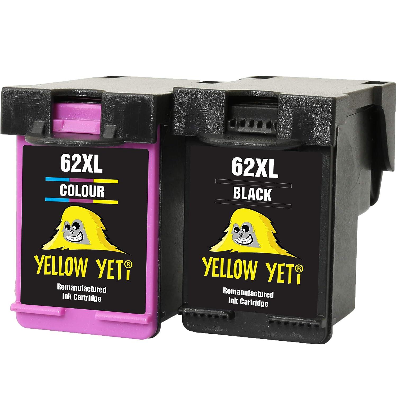 Yellow Yeti Remanufacturados 62XL 62 XL Cartuchos de Tinta ...