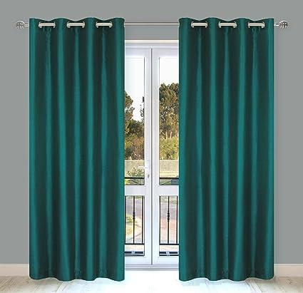 Amazon LJ Home Fashions Silkana Faux Silk Grommet Curtain