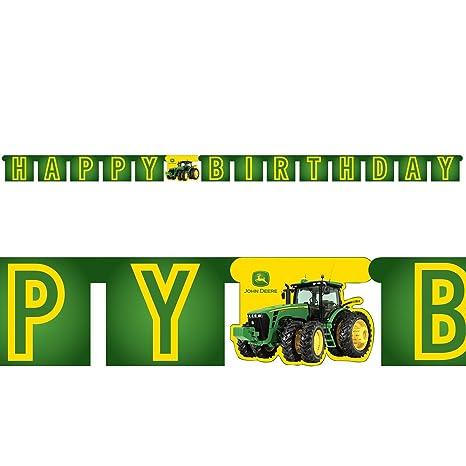 Amazon John Deere Tractor Happy Birthday Banner1ct Toys Games