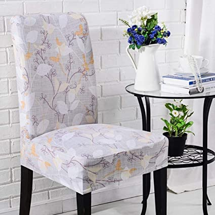Amazon.com: RXIN 4/6 Chair Cover Seat Pieces Elastic Set Printed ...