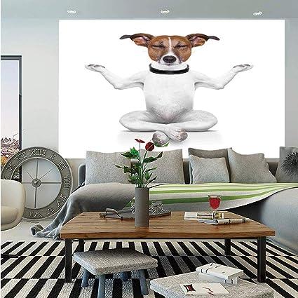 Amazon Com Dog Lover Decor Wall Mural Yoga Dog Sitting