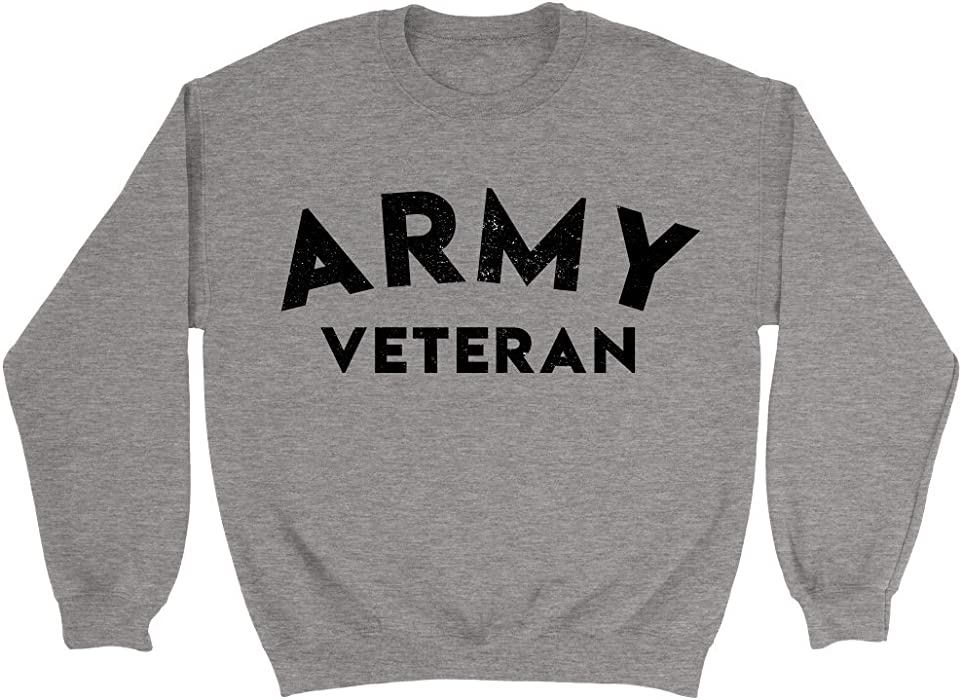 2008fa0e0 Army Veteran Sweatshirt Vintage US Military Athletic Crewneck Sweater (S)  at Amazon Men s Clothing store