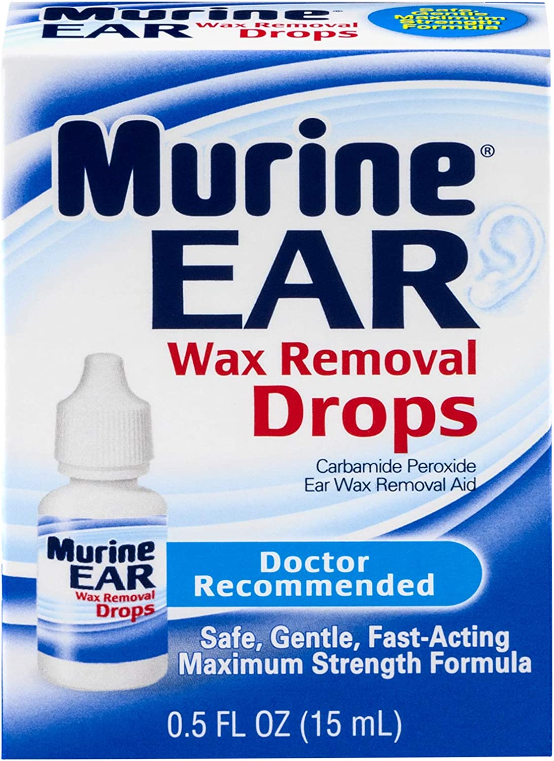 Murine Ear Wax Removal Drops | 0.5 oz: Health & Personal Care