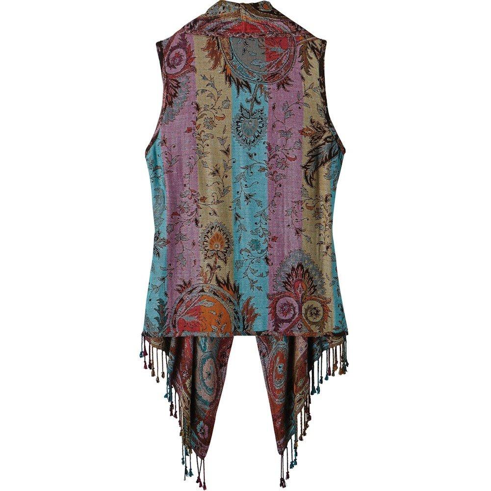 07d94e29af CATALOG CLASSICS Womens Lisbon Reversible Fringed Vest CATALOG CLASSICS  Womens Lisbon Reversible Fringed Vest ...