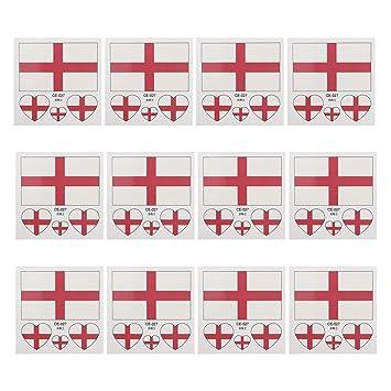 WM2018 Fanartikel 10 x England Fan Tattoo Fahne England Tattoo Flag