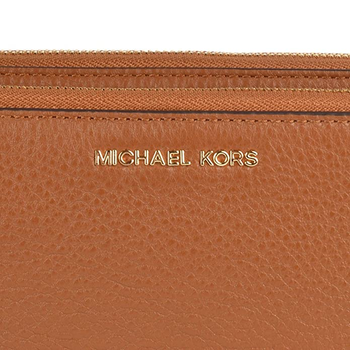 f8363982cd5e0 MICHAEL Michael Kors Adele Tan Double Zip Wallet one size Tan   Amazon.co.uk  Shoes   Bags