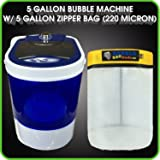 Bubble Bag Machine 5 Gallon Bag Ice Mixing Kit - 5 Gallon Portable Mini Washing - Extracting System for Herbal Essence by BUBBLEBAGDUDE (220 Micron Zipper Bag ONLY)