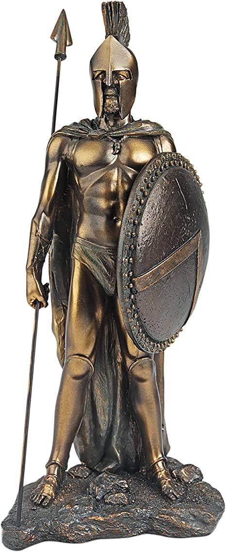 Amazon.com: Design Toscano QL1912 Legendary Spartan Warrior Statue in Verdigris Faux Bronze,Single: Home & Kitchen