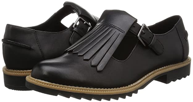 828bada2aabb Clarks Griffin Mia Wide Fit - Black Leather Womens Shoes 7 US  Amazon.ca  Shoes    Handbags