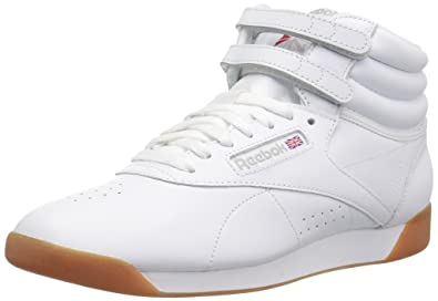 323263965ebcb8 Reebok Women s Freestyle Hi Walking Shoe White Gum 5 ...