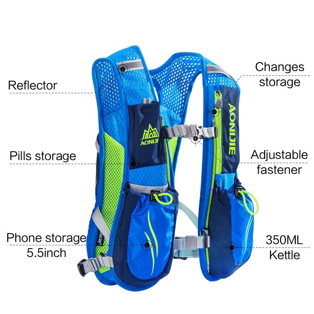 Aonijie Marathon Hydration Vests For Running Camel Pack Waist Bag Blue Green Vest Backpack Women And Men Lightweight