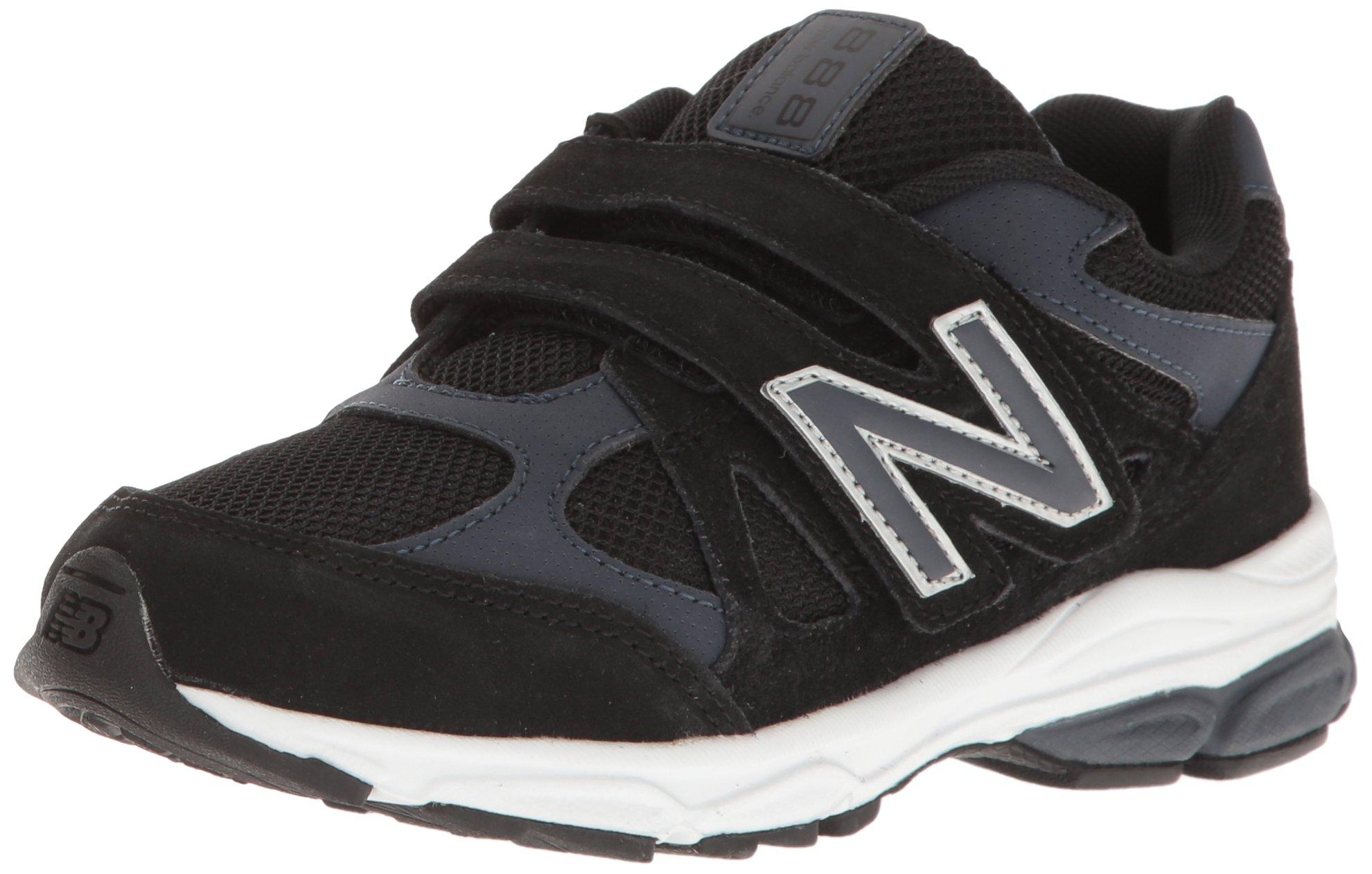 New Balance Kids KV888 Running Shoe, Black/Grey, 7 Wide US Infant