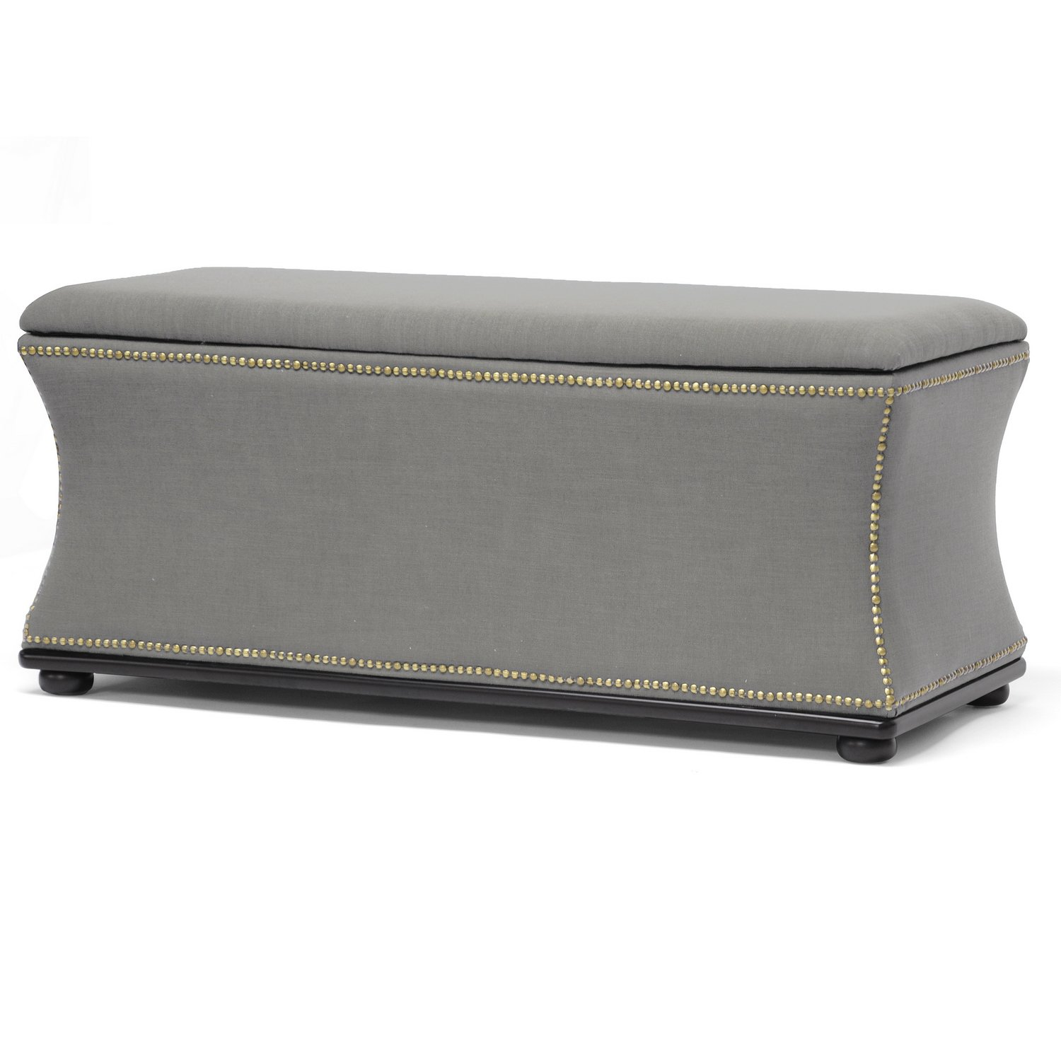 Superior Amazon.com: Baxton Studio Liverpool Linen Modern Storage Ottoman And Bench,  Dark Gray: Kitchen U0026 Dining