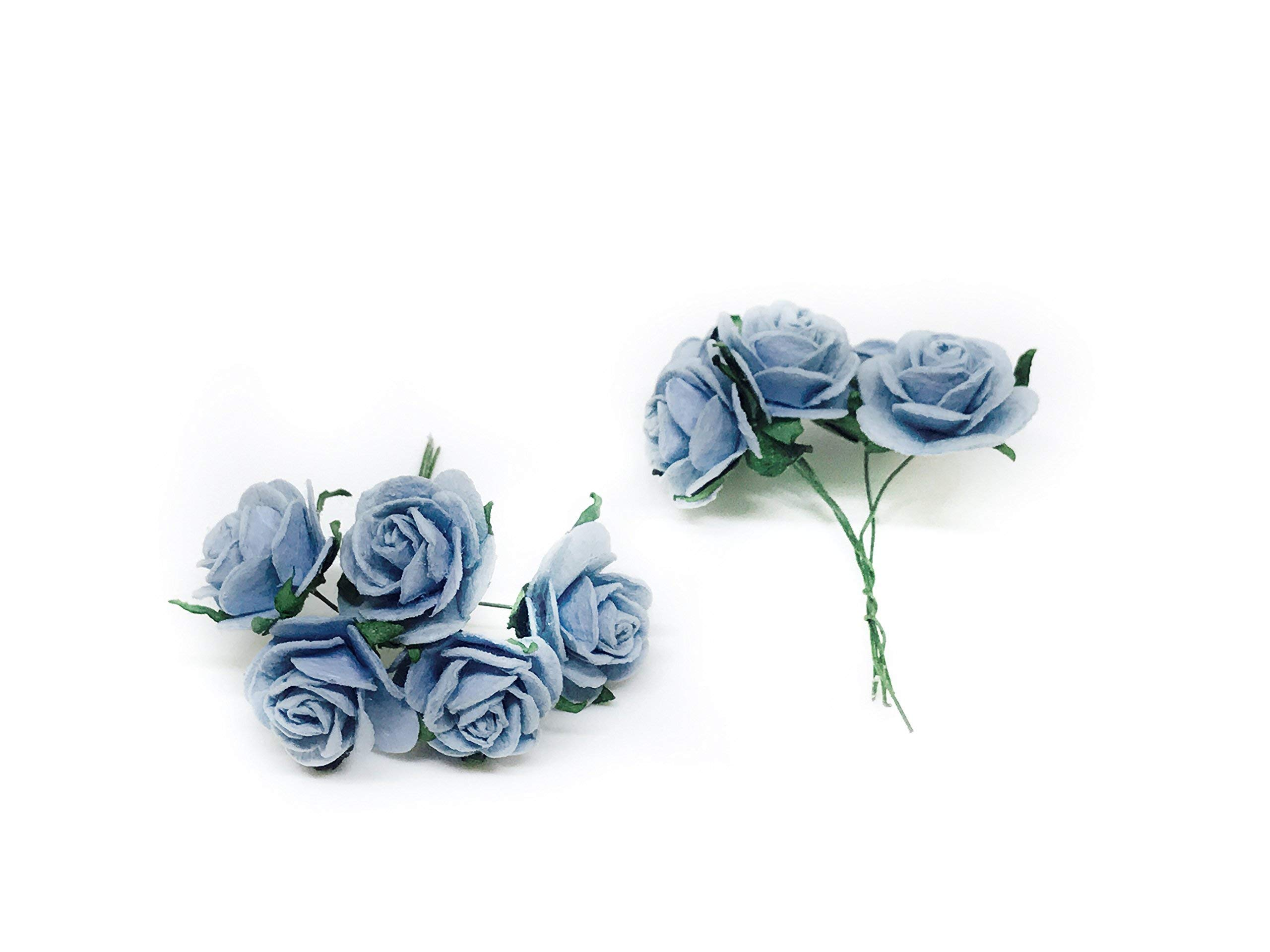 1-Blue-Mulberry-Paper-Roses-Mulberry-Paper-Flowers-Miniature-Flowers-Wedding-Flowers-Blue-Wedding-Baby-Shower-Flowers-Artificial-Flowers-20-Pieces