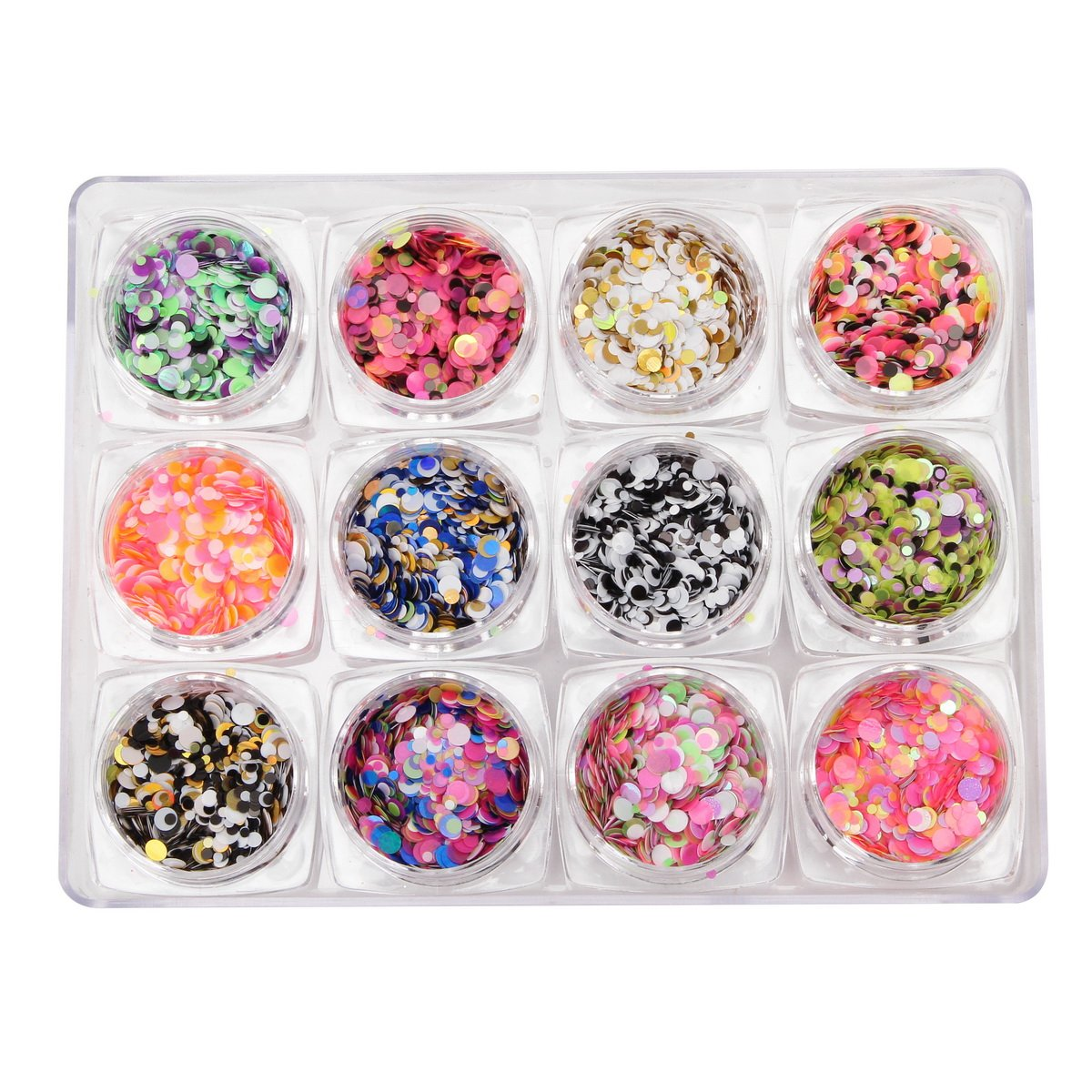 Amazon.com : Nail Glitter Sequins, DANCINGNAIL 12 Colors/Set Mixed ...