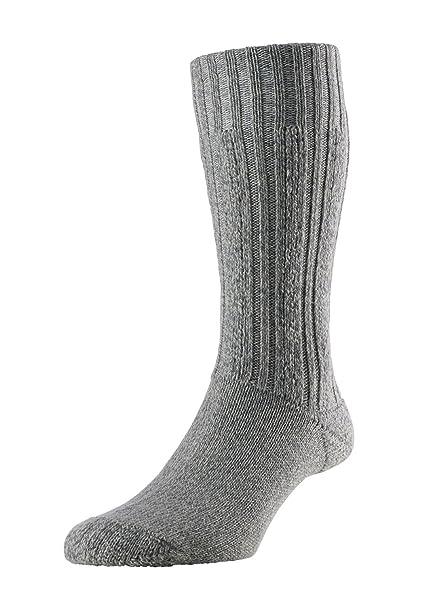 Señorías 1 par HJ Hall calcetines de lana de merino para Gris gris Medium