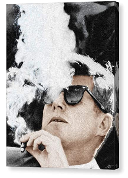 20f46f9ab9 Image Unavailable. Image not available for. Color  Tony Rubino John F  Kennedy Cigar Smoker Cigar Lover JFK ...