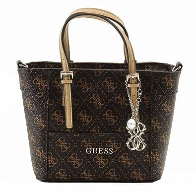 f5f64d6c4d GUESS Women s Delaney Logo Mini Tote  Handbags  Amazon.com