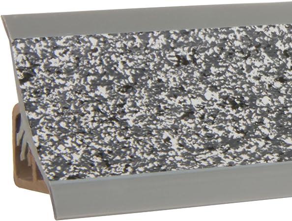 HOLZBRINK Plinthe de Comptoir de Cuisine 23x23 mm 150 cm Aluminium Satin/é de Finition PVC Finition du Comptoir de Cuisine