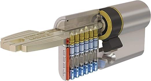 Cilindro de seguridad T60 Niquelado T6553030N 30x30 mm