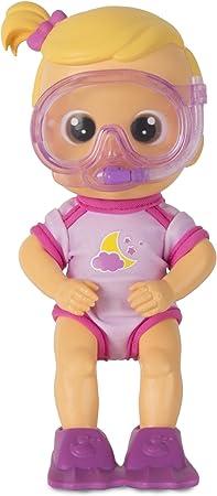 Esta es luna, una adorable muñeca buceadora para el baño de ojos grandes; hay seis personajes distin