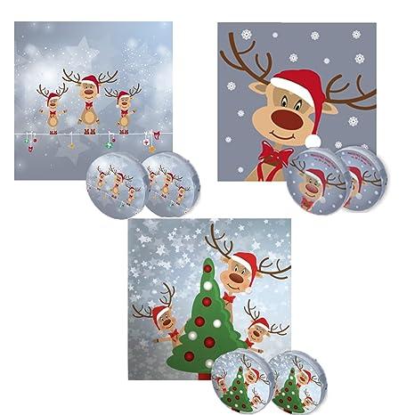 Bada Bing mágico Toalla 30 x 30 Reno Rudolph 3 modelos surtidos Navidad calendario de Adviento