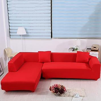 Amazon L Shape Sofa Covers 2pcs Polyester Fabric Stretch