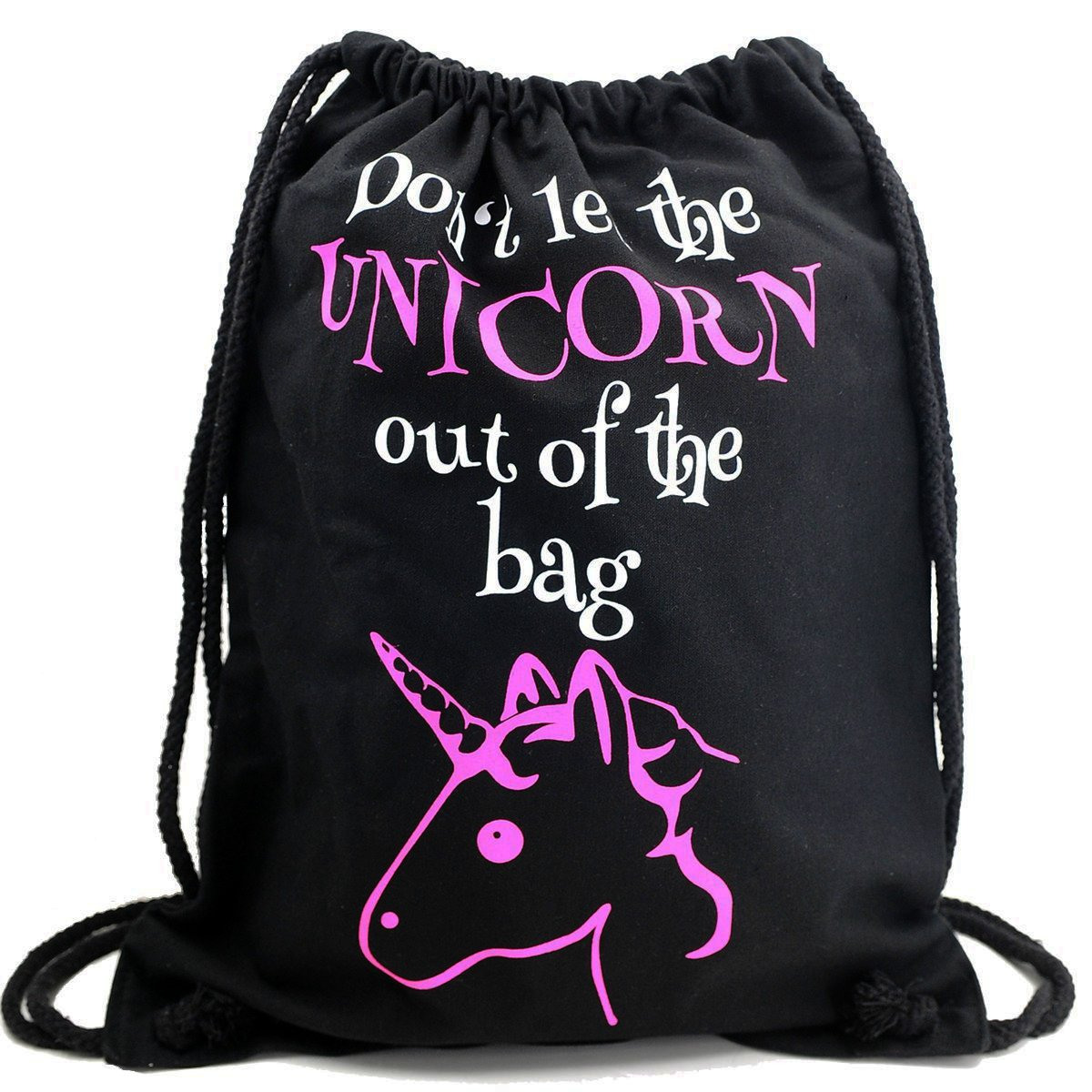 saco con cuerdas mochila unicornio