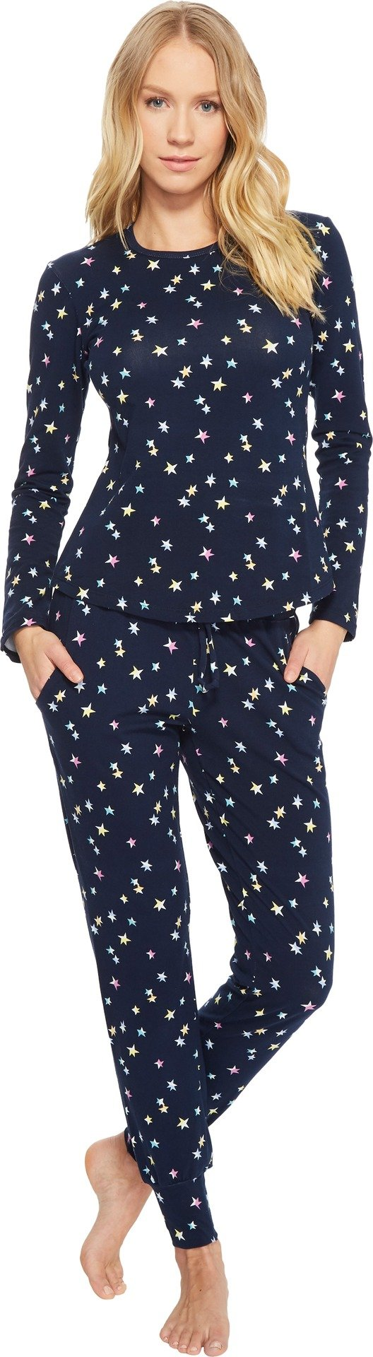 BedHead Women's Long Sleeve Crew Neck and Jogger Set Twinkle Medium