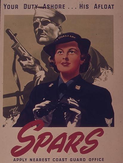Excellent coast guard spar vintage poster for