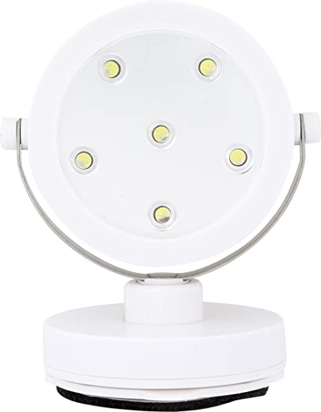 White Three Battery Powered Led Adjustable Spotlight Amazon Co Uk