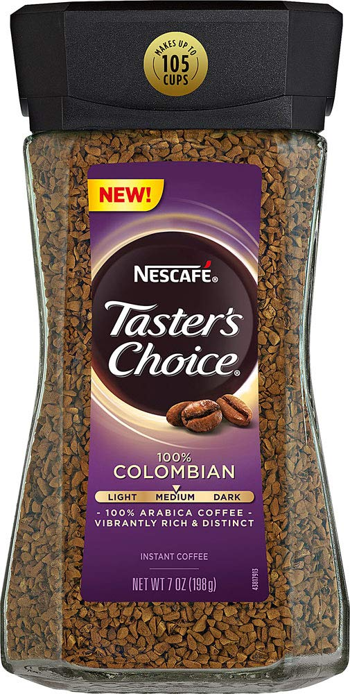 Nescafe Taster's Choice Colombian Instant Coffee, Medium Roast, 7 oz