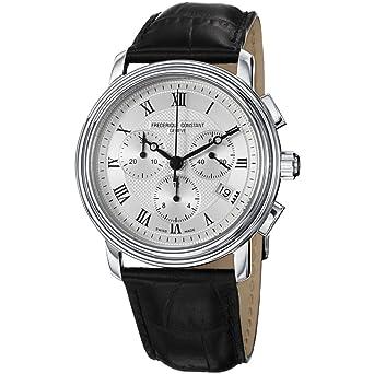 Frederique Constant FC-292MC4P6 - Reloj de pulsera hombre, piel, color negro: Amazon.es: Relojes