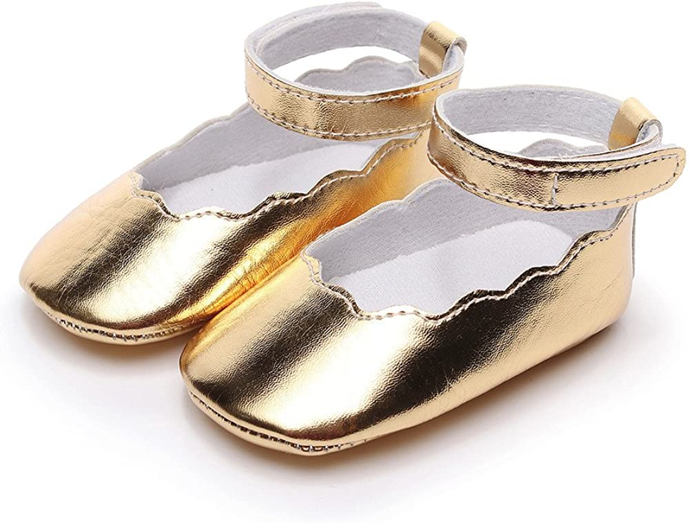 Lurryly Baby Girls Floral Soid Sole Summer Sandals First Walkers Infant Single Shoes