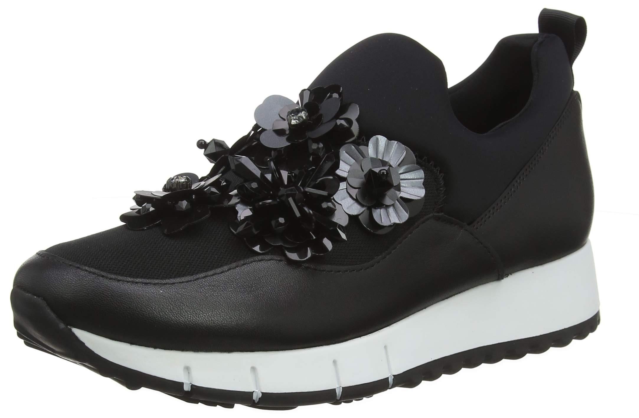 Liu Jo Shoes Women's Gigi 03 - Elastic Sock Black Low-Top Sneakers, 22222 8 UK