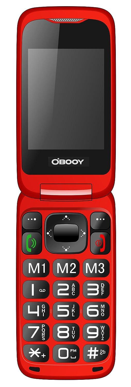 EG520 desbloqueado GSM Clamshell móvil teléfono, botón SOS, pantalla dual con teclado grande y texto predictivo, radio / cámara / linterna / base de carga, ...